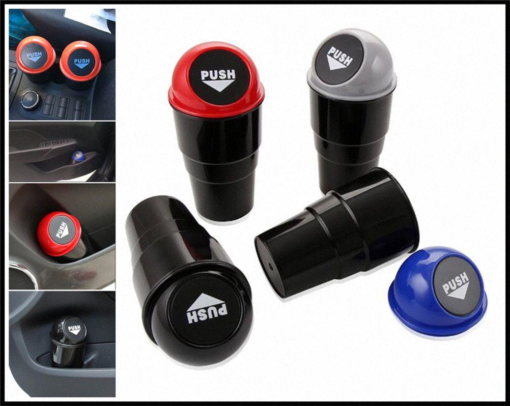 1pcs ricambi auto mini forma rotonda scatola contenitore di rifiuti può per Kia Soul Forte5 Cadenza Telluride Pro Venga Kirn #