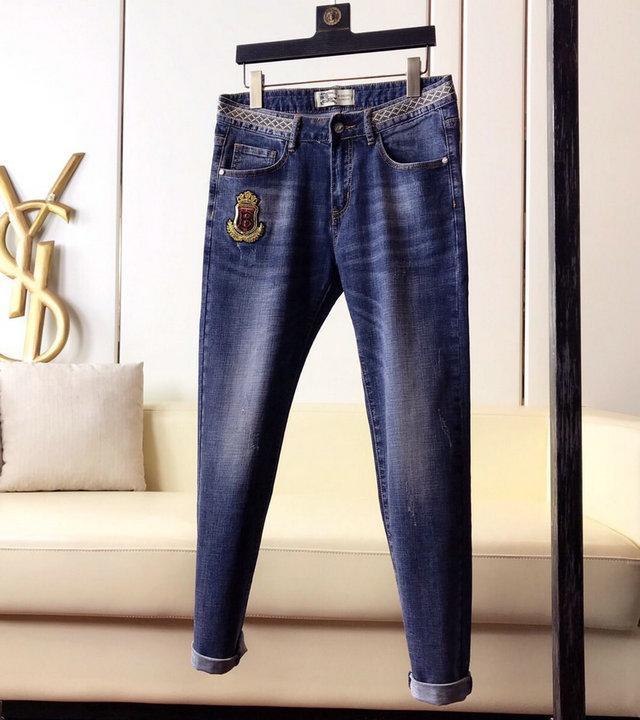 Moda Erkek Biker Jeans Deri Patchwork Slim Fit Siyah Moto Denim Koşucular için Erkek Sıkıntılı Kot Pantolon Ripped ~~ # SA127
