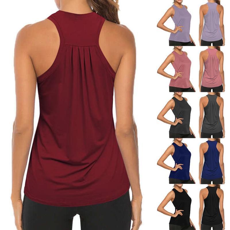 Laufende Frauen Yoga Weste Fitness Sommer I-förmigen Zurück Weste Shirts lösen Street Gym Yoga Tank Tops Weiblich Sport