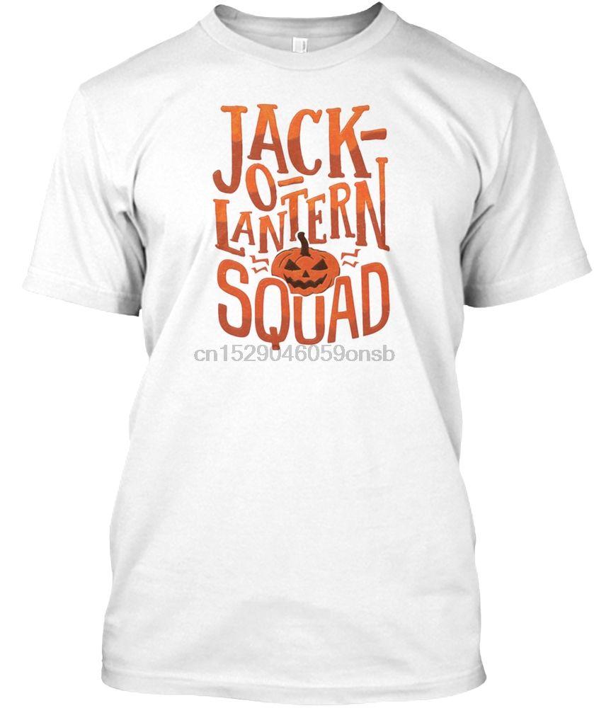Homens T Shirt Halloween Lanterna de Jack O Esquadrão abóbora Mulheres tshirt
