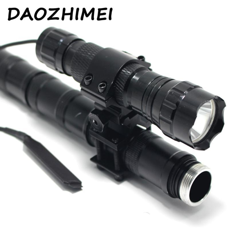 5000 Lumens XM-L T6 L2 White Light LED Tactical 501B Torch Pressure Switch Mount Hunting Rifle Gun Light Lamp