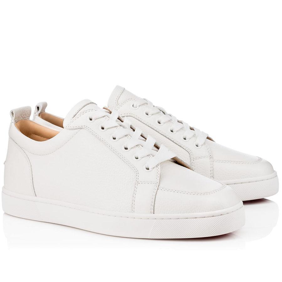2019 Mode Paris Chaussures pour hommes Chaussures de sport rouge Bas Bas Sneaker Rantulow Orlato Spikes Off junior Beige / Noir / Blanc Usine de gros
