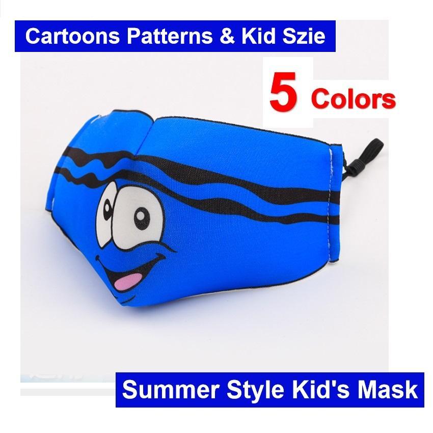 Estate L'uso freddo di tessuto di cotone Kid Mask Bambino bambini affrontano Cartoni maschera riutilizzabili lavabile di trasporto del DHL