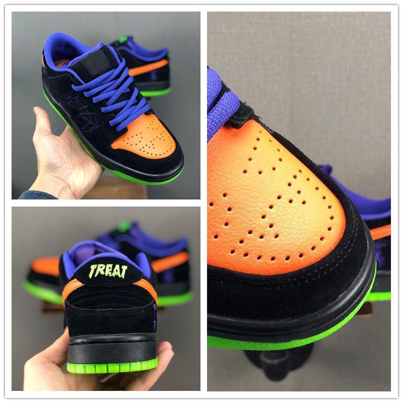 SB Dunk Low Pro 1 Raygun Tie-Dye Ночь Вред Черный Общий Черный Оранжевый суд Фиолетовый Зеленый Мужские кроссовки женщин Мужчины TrainerSneakers