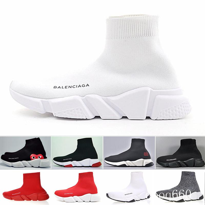 Balenciaga 2019 mode sneakers hommes les femmes Designers Chaussures noir brillant rouge vert blanc rose mens plat Formateurs Runner taille de chaussures casual 36-45 MI