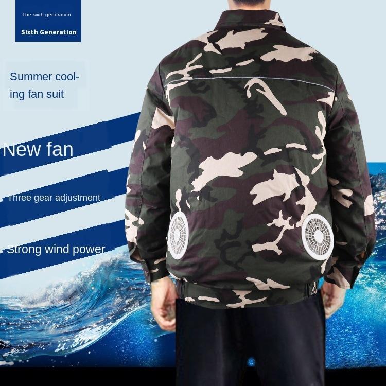 cpS5x w klima giysiler Soğutma emek clothesprotection erkek kaynakçı soğutma şarj işçiler site ile klimayı soğutma