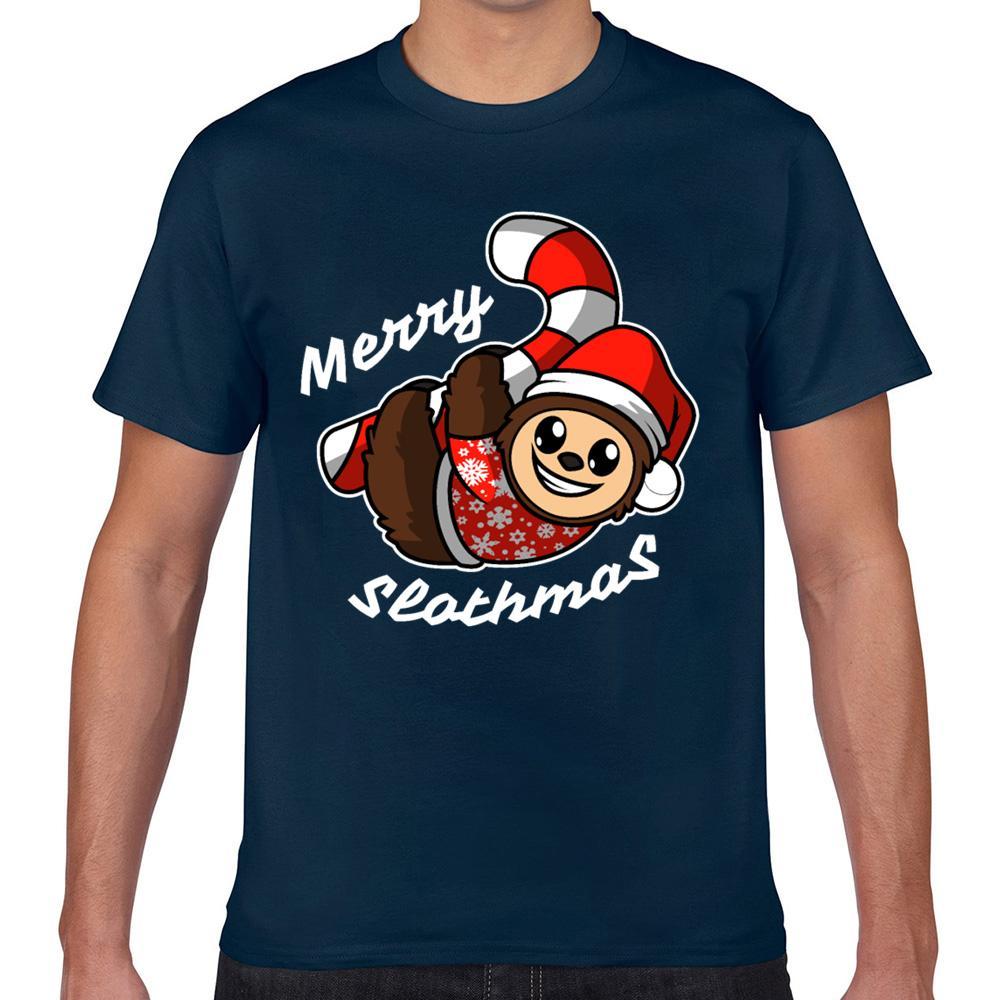 Tops Masculino Comic Inscrições camisa do costume T homens alegres slothmas Camiseta