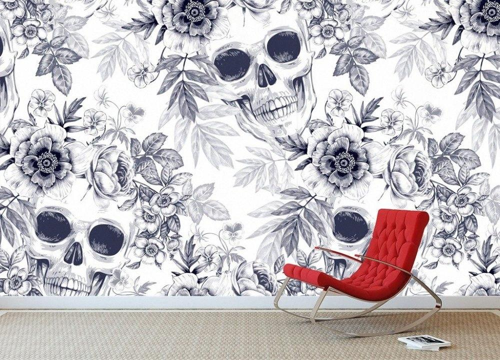 [Self-Adhesive] 3D-Schädel-Textur 006 Wandpapierwandbild-Wand-Druck Aufkleber Tapeten 5XK7 #