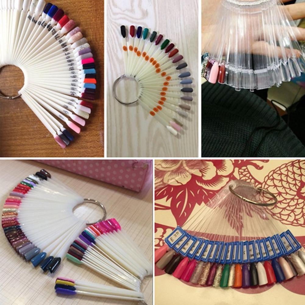Nail Art Conseils Fan Carte Palette de couleurs en forme de bâtons de pratique d'affichage à ongles Nail Art Style de nuanciers Affichage Shelf Carte polonaise