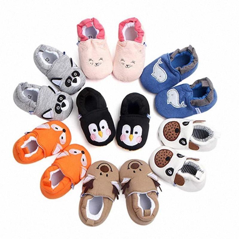 2020 Новых Hot Младенческой младенца Мальчики Девочка Casual Soft Подошва мультфильм животные Стиль Антипробуксовочной обувь Девушка Спортивная обувь c0sx #