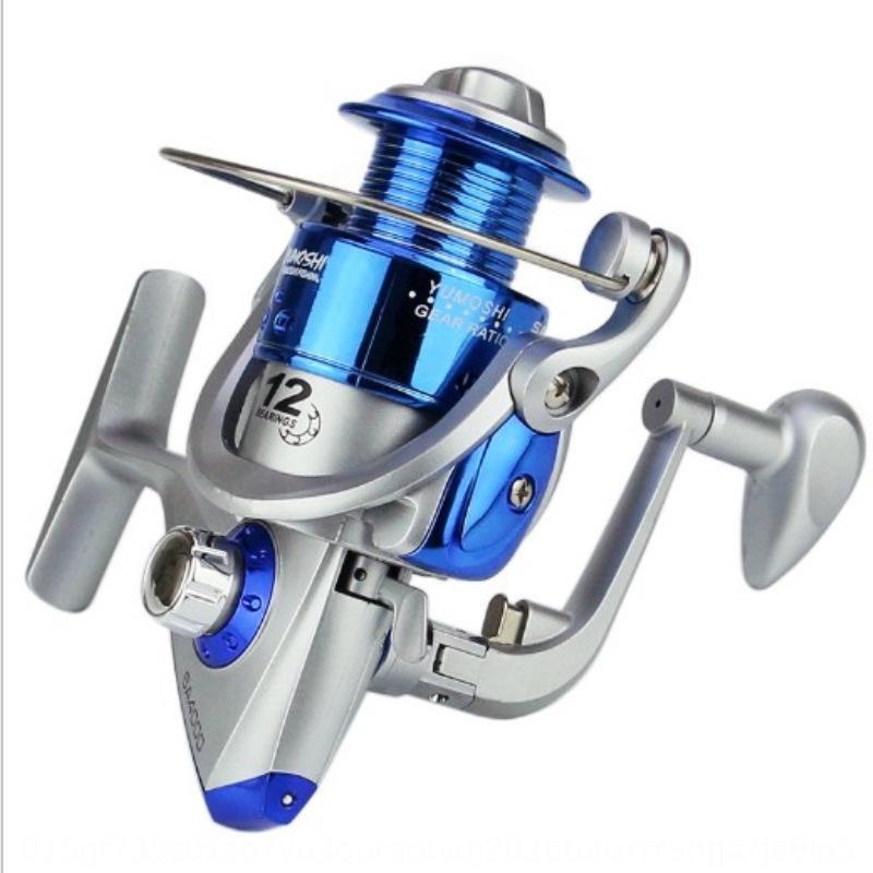 SA1000-7000 linea dell'asta linea d'argento la testa di plastica blu ruota pesca rotella Pesca