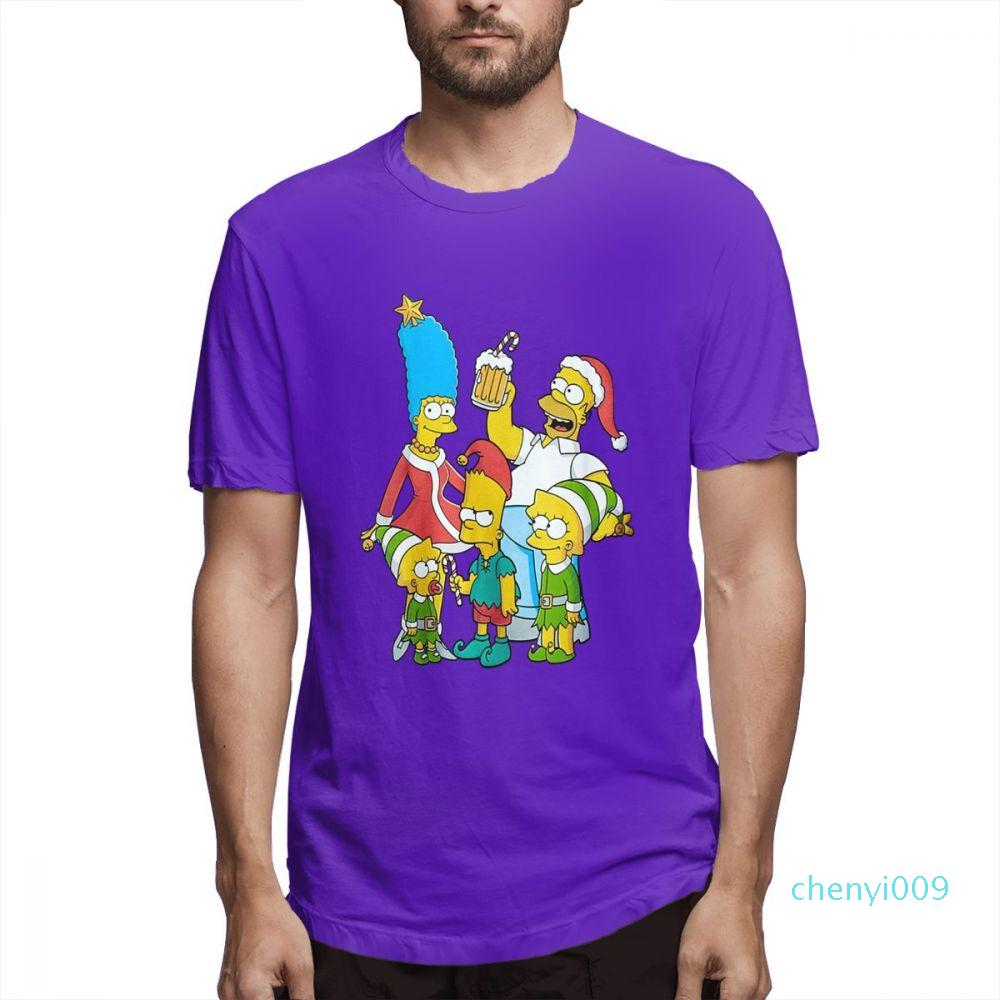 Designer de moda camisas camisas das mulheres dos homens de manga curta Os Simpsons Impresso T Shirt Causalcasu Mens Tops T gráfico s122c09
