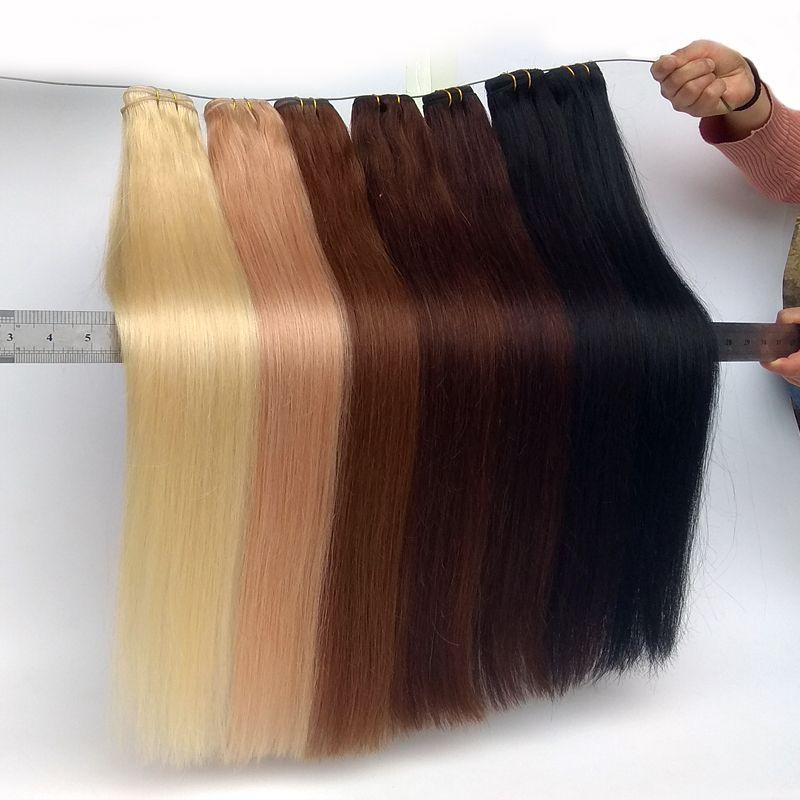 Brazilian Virgin Hair Bundles Remy Human Hair Extensions Black Brown Blonde Grey Red Blue Human Hair Weave Wholesalers 12-26inch Cheap