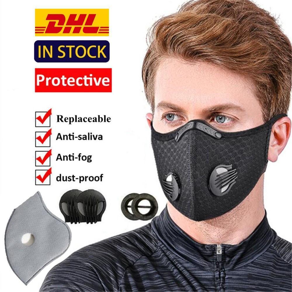 DHL Ciclismo mascarilla máscaras a prueba de polvo de malla boca máscara de protección facial al aire libre a prueba de polvo máscara de respiración respirador de deporte Accesorios