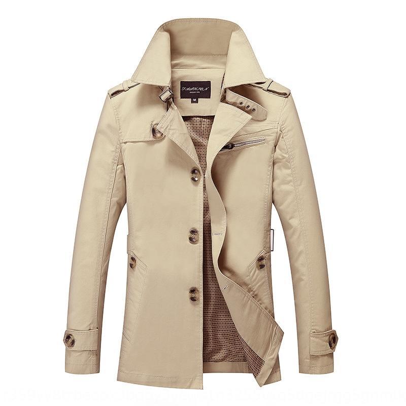 Genç erkekler için 2020 İlkbahar ve WINDBREAKER Sonbahar yeni erkek orta boy trençkot erkek ince basit gündelik ceket