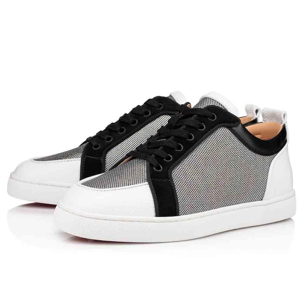 Sapatos de esportes retrô dos homens de verão Rantulow Orlato Flats Red Bottom Low-top Sneaker Reds Soles Júnior Trainers Sneakers Party Shoe Nome Marca