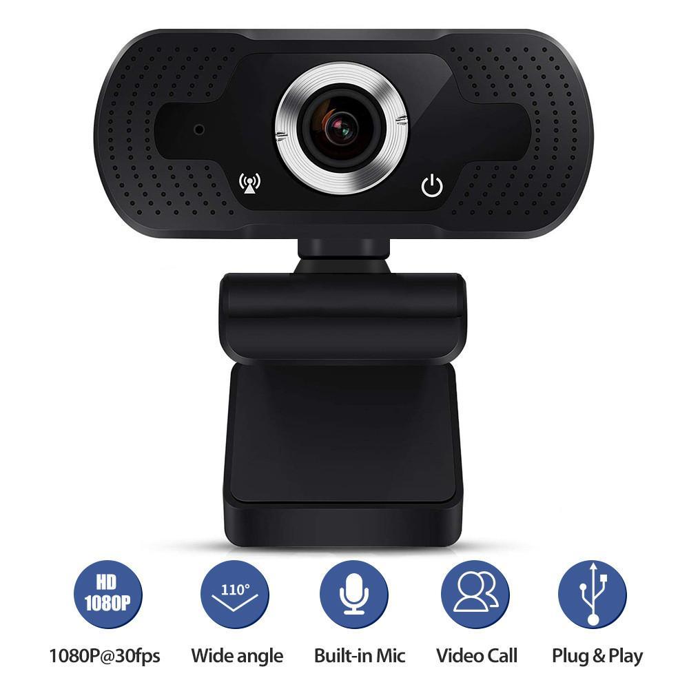 Full HD 720p 1080p Webcam 4x PC Computer PC Web Telecamera con microfono per la trasmissione in diretta Videochiamata Conferenza Workcamara Para