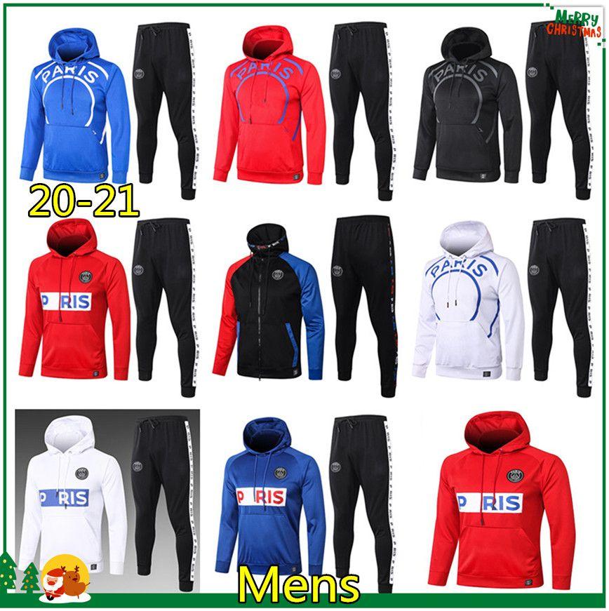 PSG Paris Hoodie Jacke 2020 2021 Psg jordan Trainingsanzug Fußball Jacke 20 21 MBAPPE Survêtement PSG