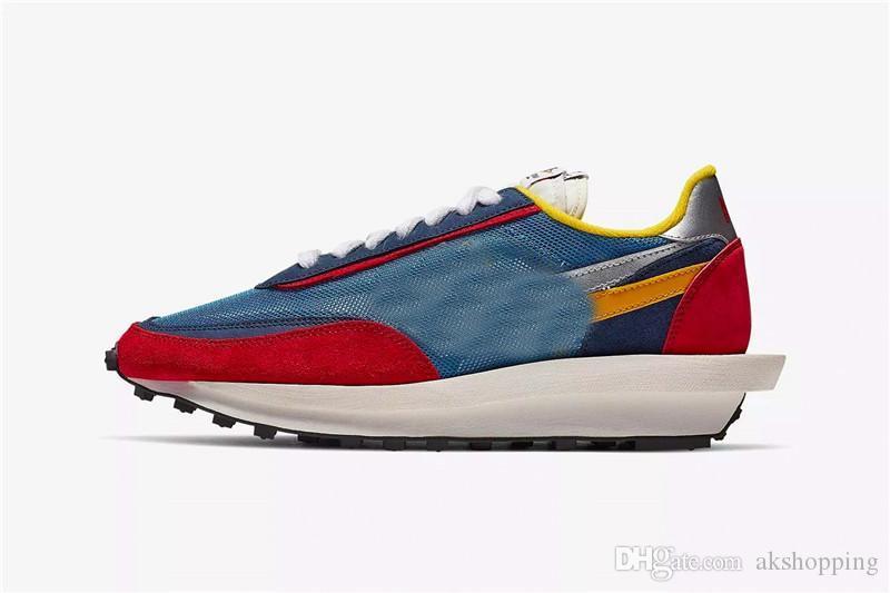 Ayakkabı Koşu seksi Otantik LD LDV Waffle Sacai VARSITY Mavi Yeşil GUSTO Çoklu Daybreak Blazer Mid Dunk Erkekler BV0073-400 BV0073-300