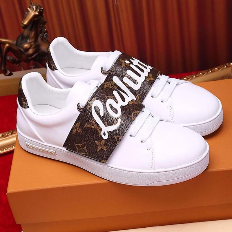 Zapatos de mujer de la manera ocasional Footwears zapatillas de deporte de los zapatos de lujo Zapatos De Mujer al aire libre Pisos mujeres de la manera Frontrow la zapatilla de deporte Zapatos Hembra