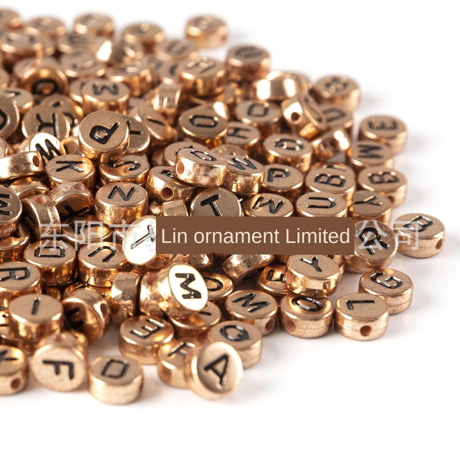 2021 Acrylic Letter Rose Gold 4x 7mm Oblate Diy Puzzle Bracelet Diy Beads Accessories Beads Accessories 8181 From Toptradingco 23 77 Dhgate Com