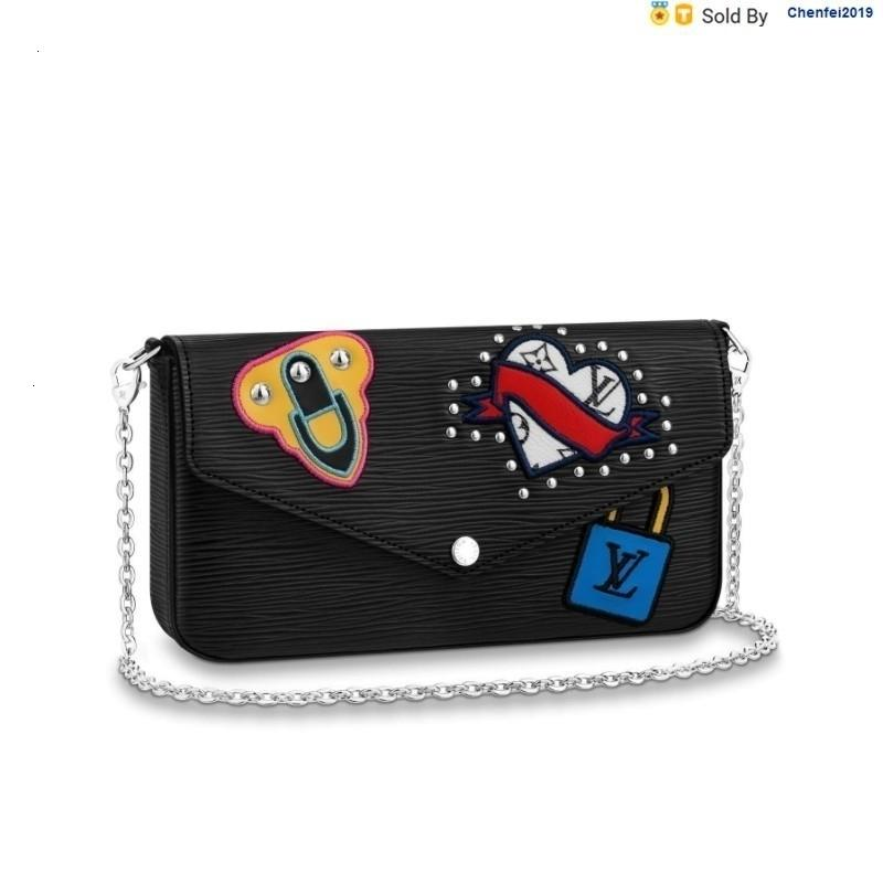 chenfei2019 9EQZ Flicie Black Messenger Bag M63726 Totes Handbags Shoulder Bags Backpacks Wallets Purse