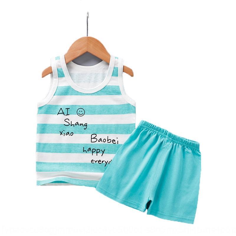 chaleco del muchacho del algodón del bebé del juego del chaleco camiseta sin mangas pantalones cortos cortos de dibujos animados camiseta del bebé de los nuevos niños 3