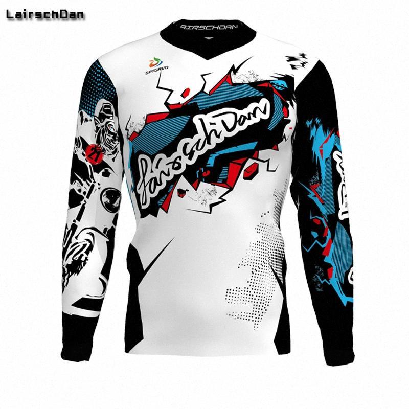 SPTGRVO LairschDan New Team Bike Motocross Джерси задействуя внедорожного мотоцикла Downhill Fast Dry рубашки человек велосипедов Джерси UvKP #