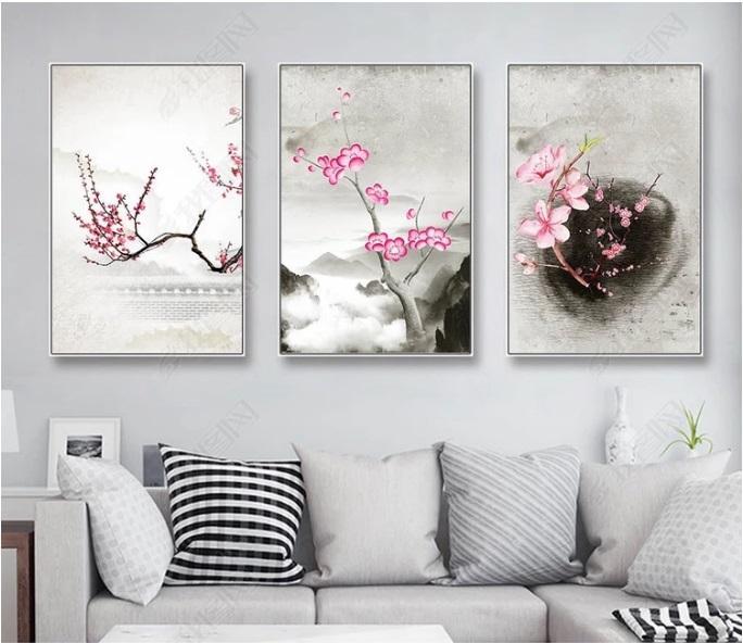 Традиционная китайская живопись сливы холст картины Плакат печати стены искусства Картина для гостиной Home Decor Unframed
