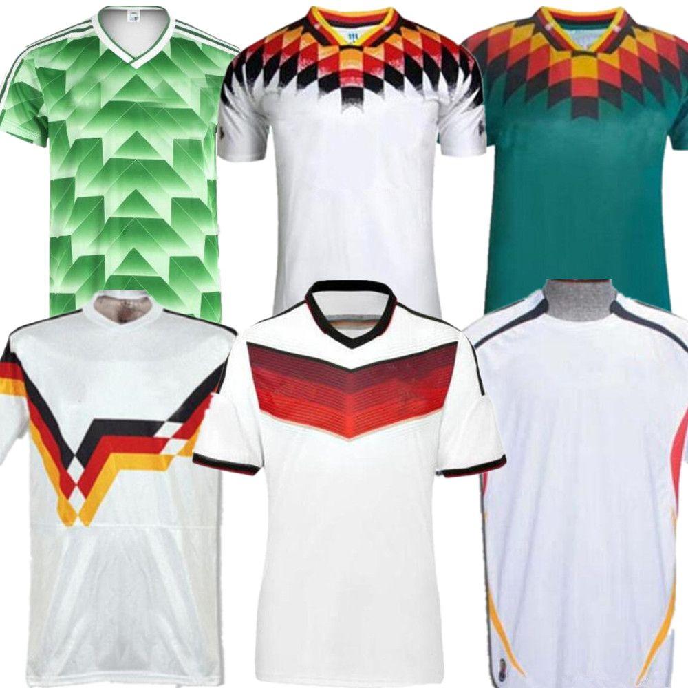 Retro Jersey 1990 1994 1988 Germania Retro Littbarski BALLACK maglia da calcio Klinsmann Matthias 2014 camicie Kalkbrenner JERSEY 1996 1998 2004