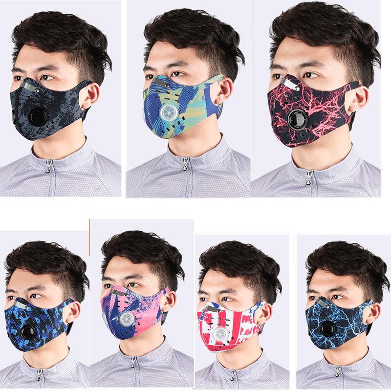 Staublaufschutz Maske Aktivierte Filtermaske Gesicht PM2.5 Anti-Umweltverschmutzung Sporttraining Bike MTB mit Straßenkohlenstoff-Staubmaske NBKGC