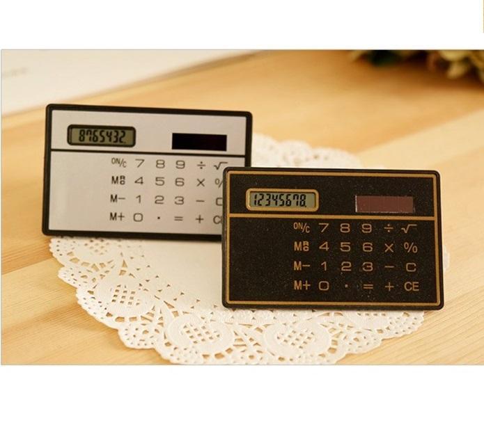 Small Slim Pocket Calculator Stationery Card Portable Calculator Mini Handheld Ultra-thin Card Calculator Solar Power