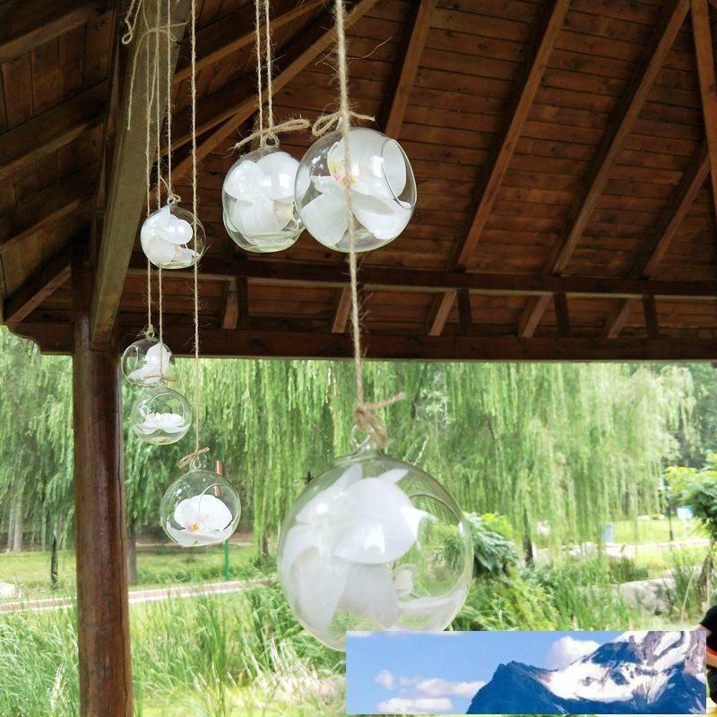 10 cm Vase en verre Hanging Creative Succulent Air installation Affichage Terrarium, verre transparent décoratif Hanging Air Plante Terrarium