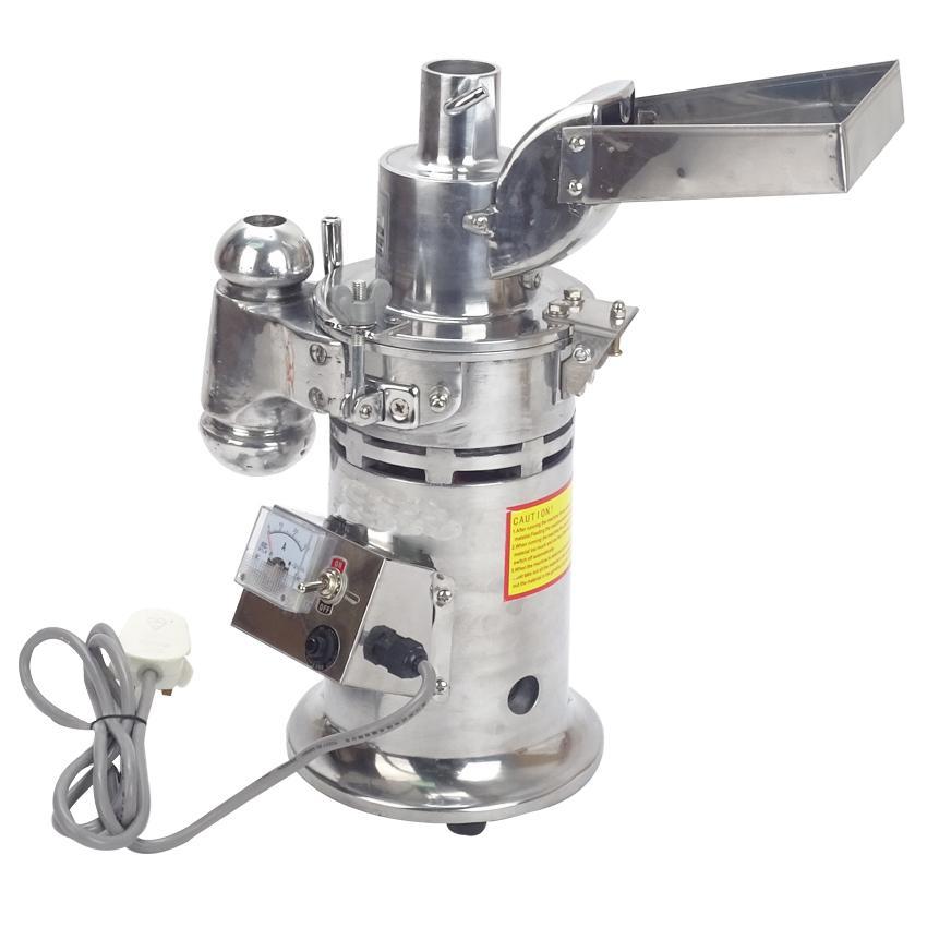 آلات فرم DF-15 أغذية مطحنة المطرقة التلقائي المستمر مطحنة عشبة مطحنة الطاحن طحن قدرة 1-15kg / ساعة 20000r / دقيقة