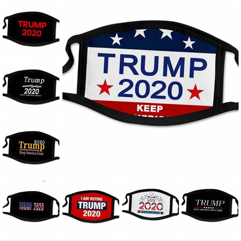 40 Stiller Trump Yüz Amerikan Bayrağı Maskeleri YYA249 maske Yetişkin Ve Çocuklarda toz geçirmez 2020 Amerikan Seçim Maskeler maske