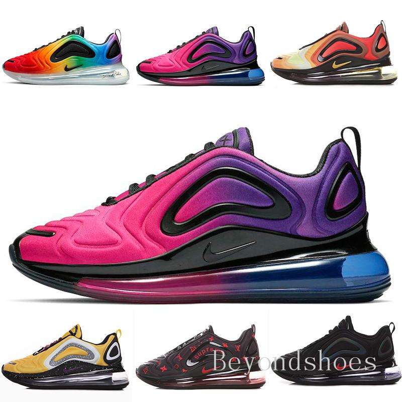 Throwback future running shoes mens iridescent moon northern lights sea forest shoes womens pink sea sunset luxury HU-9C