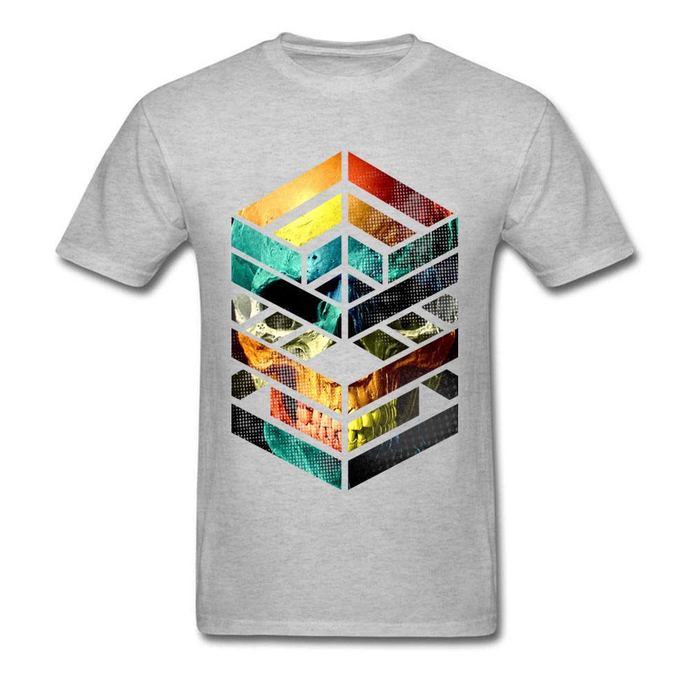 2020 Fashion Design T Shirt Skull Head Geometry Printed Short Sleeve Grey T Shirt Bulk Factory Wholesale Good Quality Own Tshirt Awesome Tshirt Designs 10 T Shirts From Fjdh09 10 06 Dhgate Com