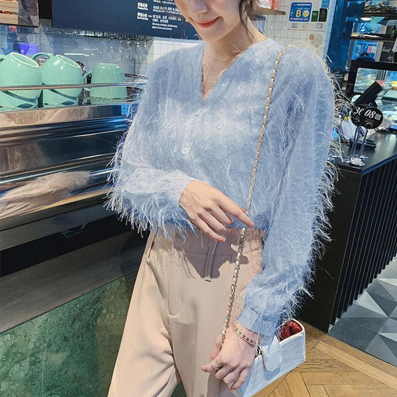 progettazione senso minoranza top stile estera delle 20200724 chiffon delle donne della camicia
