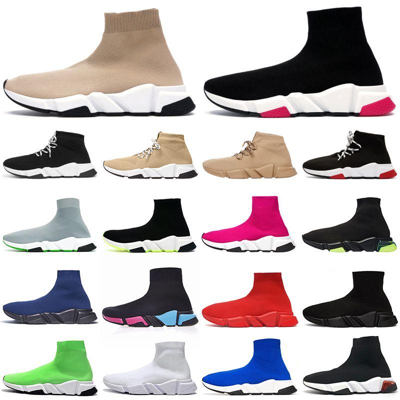 Designer Socke Schuhe Speed Trainer Herren Damen Stiefel Triple Schwarz Weiß Rot Blau Laufschuhe Socke Rennen Läufer Sport Luxus Schuhe 36-45