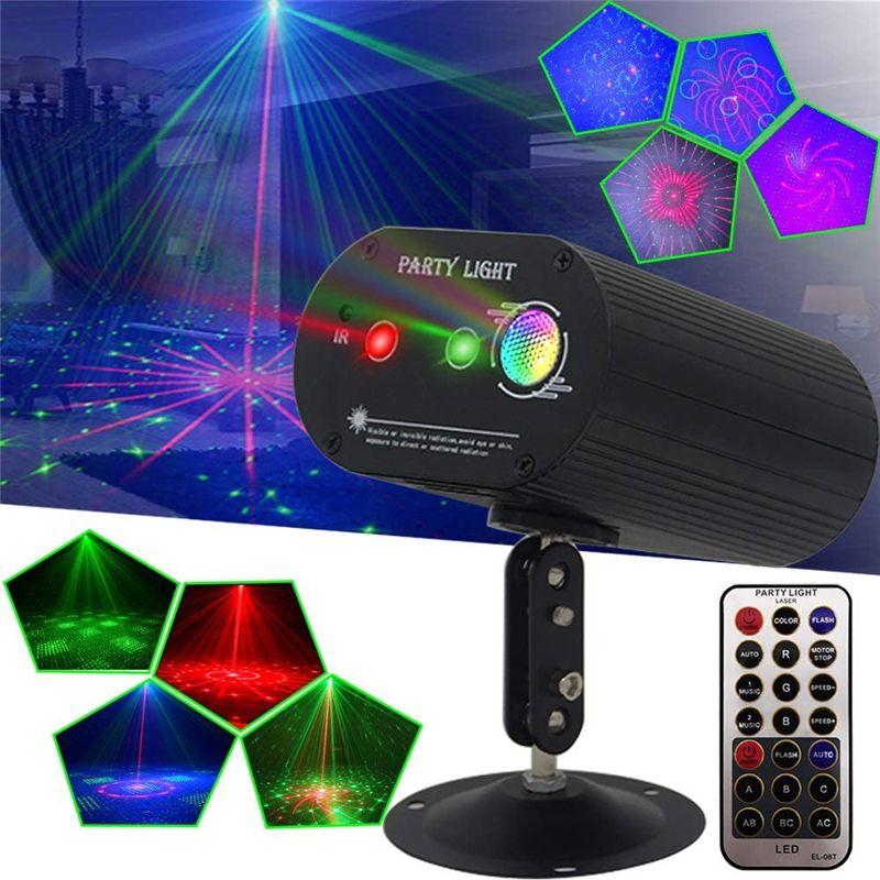 Mini Laser Projecteur à distance la pleine lumière DJ stars Motif DJ Environnement Danse Disco Bar Party Effet de Noël Éclairage scénique Afficher
