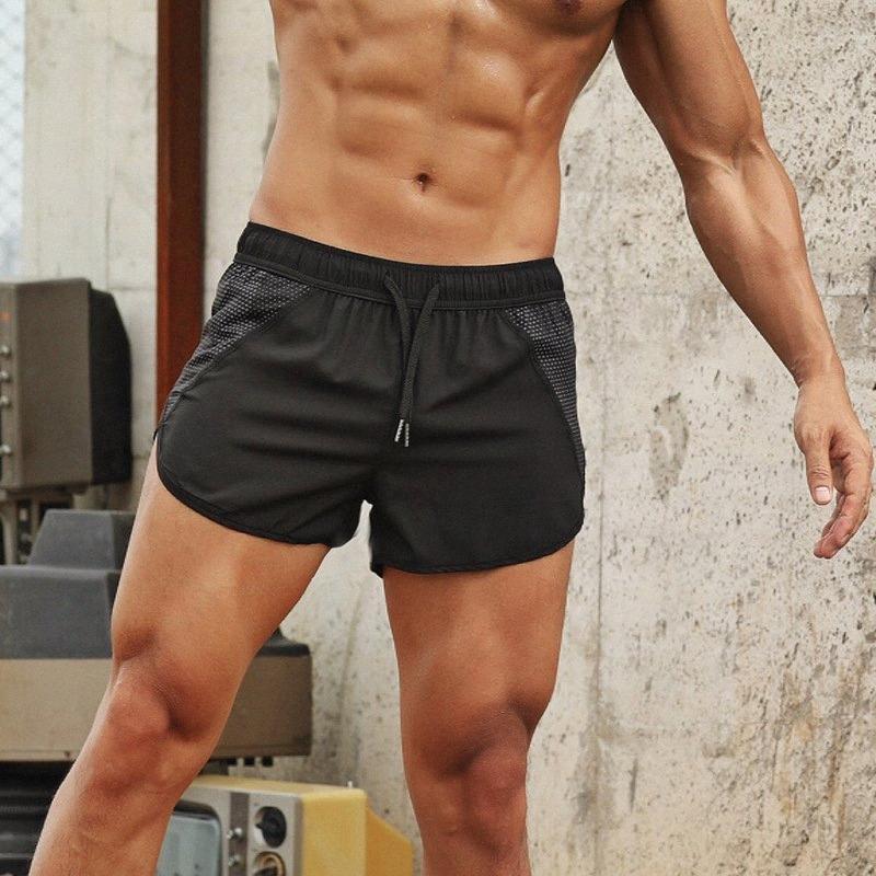 Summer Running gimnasios hombres de los cortocircuitos deportes jogging pantalón corto deportivo para hombre de secado rápido Gimnasio hombres del deporte de los pantalones cortos H0ln #