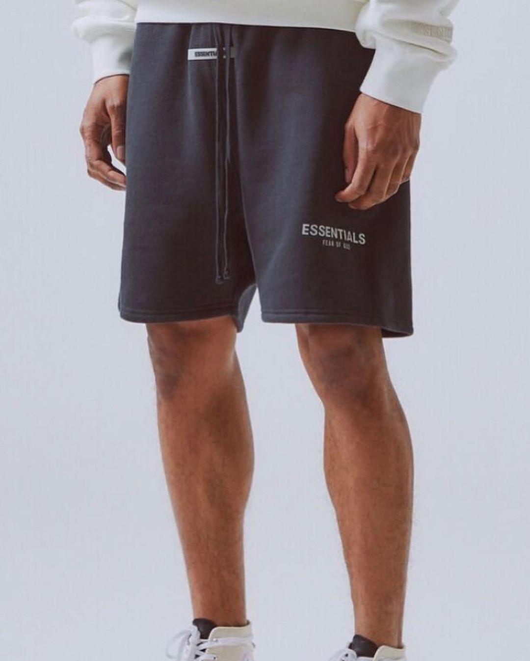 Fashion Shorts FEAR OF GOD ESSENTIALS Spiegelung Stickerei Sommer Outdoor-Sport-Laufhose FOG Fünf Farbe