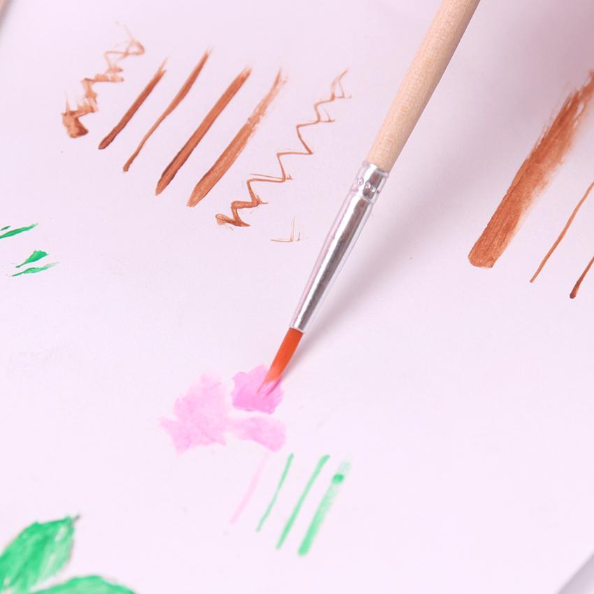 10PCS fino pintado a mano Hook Line fino arte de la pluma fuentes del dibujo arte pintura de la pluma del cepillo de nylon cepillo de la acuarela Pintura de la pluma