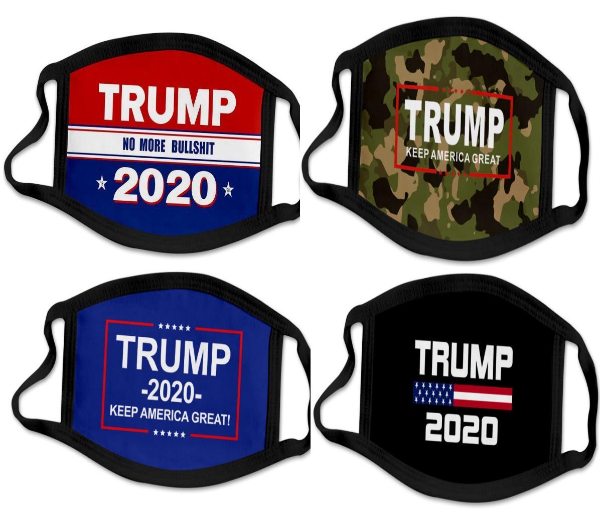 41 types Impression 3D Trump 2020 Masque coupe-vent coton Masques bouche des enfants adultes américains Élection États-Unis Mask Noir DHL