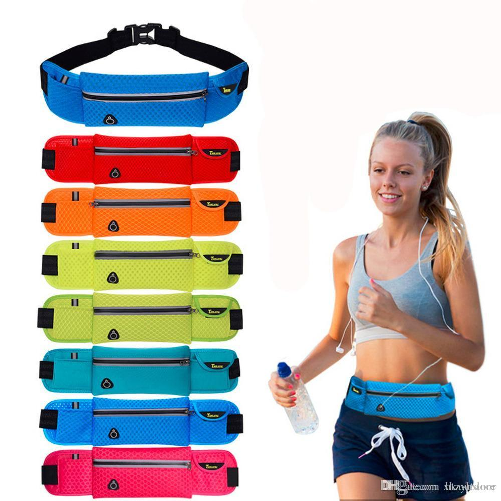 ht Anti-theft Slim Run Gym Jogging Exercise Cell Phone Tight Chest Waist Fanny Bag Sports Pouch Running Shoulder Bag Drop Shipping
