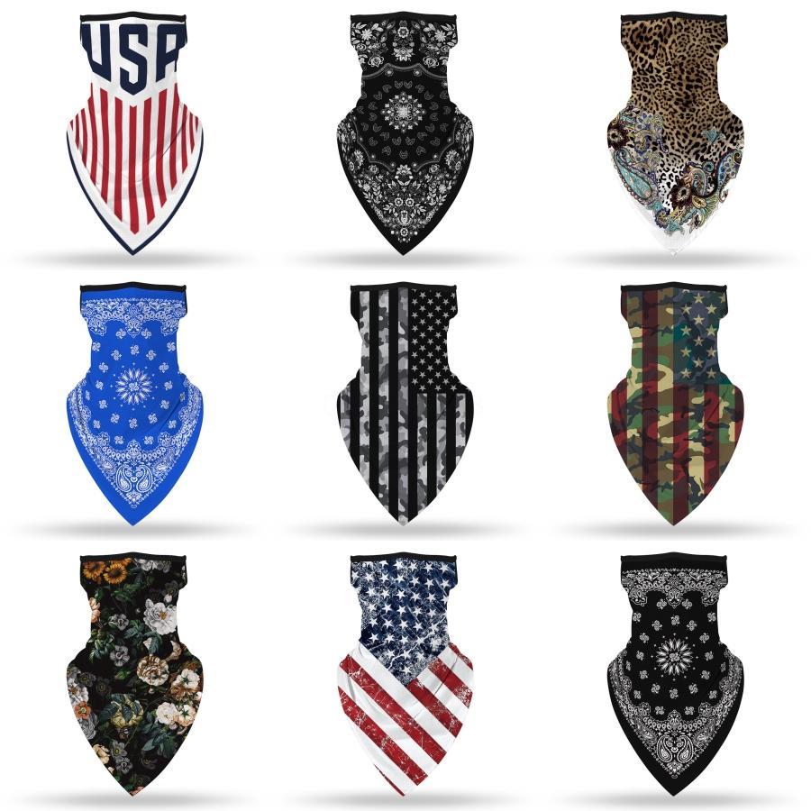 Diseñador de la máscara impresa de las mujeres de seda de la bufanda mágica de la cara 14 Estilos gasa pañuelo al aire libre a prueba de viento de la media cara a prueba de polvo Parasol ma # 872 ## 836