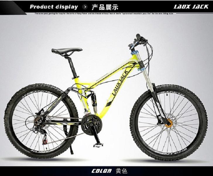 cuesta abajo adulto bicicleta de montaña bicicleta de aleación de aluminio fuera de carretera bicicleta de carreras de velocidad variable de 27 velocidades de doble amortiguador de cola suave