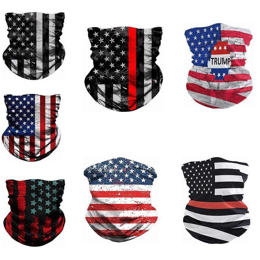 Yeni Amerikan Bayrağı Eşarplar 3D Baskı Sihirli Eşarplar Fonksiyonlu Sihirli Şapkalar Turban Binme Yaka Koruyucu Maske Tasarımcı Maskeler LL15