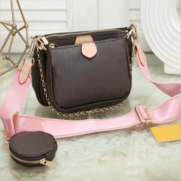 XX sac de cuir sac à main de la femme fleur épaule crossbody dames préférées sacs à main 3 pièces porte-monnaie
