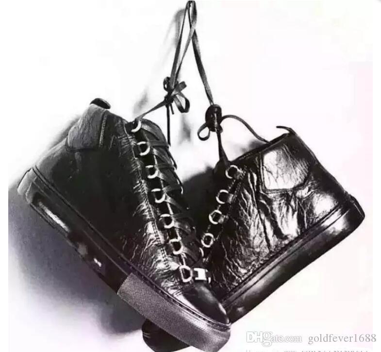 2017 novo frete grátis estilo clássico lace-up alta qualidade superior sapatos de luxo genuínos homens de couro Calçados casuais das sapatilhas Flats Tamanho 36-47 hig